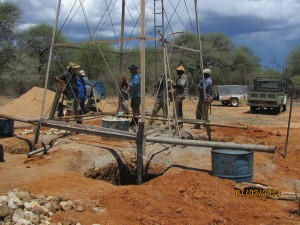 Bau des neuen Windrads im Feb 2013