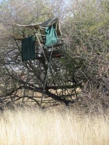 Hochsitz auf Farm Hazeldene Namibia