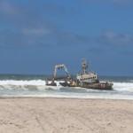 Schiffswrack im Atlantik